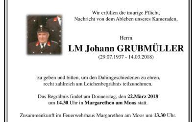 Im Gedenken LM Johann Grubmüller