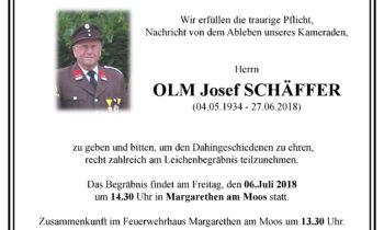 Im Gedenken OLM Josef Schäffer